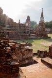 古庙的废墟有塔的 免版税库存照片