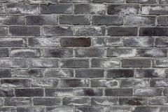 古庙的砖墙晴天 免版税库存图片