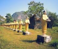 古庙的菩萨图象 图库摄影