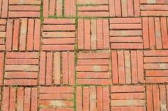 古庙砖地板 免版税库存图片