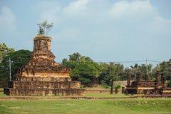 古庙美好的风景在sukhothai-historypark, Sukhothai,泰国的 免版税图库摄影