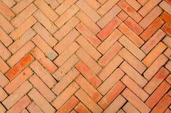 古庙里面砖地板 免版税库存照片