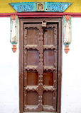 古庙门在印度 免版税图库摄影