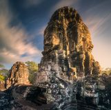 古庙Bayon吴哥暹粒,柬埔寨 图库摄影