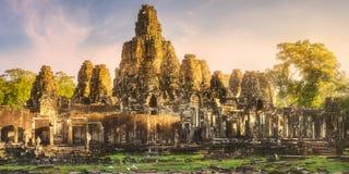 古庙Bayon吴哥暹粒,柬埔寨 免版税图库摄影