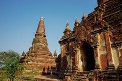古庙Dhammayazika塔在Bagan缅甸 库存图片
