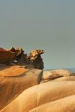 古怪01个的岩石 图库摄影