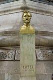 古斯塔夫・埃菲尔雕象,巴黎 免版税库存图片