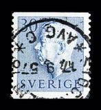 古斯塔夫国王VI阿道夫, serie,大约1961年 皇族释放例证