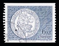 古斯塔夫脉管的美元, Definitives serie,大约1972年 库存图片
