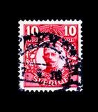 古斯塔夫V, serie国王,大约1911年 免版税库存照片