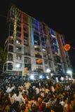 古杰雷特首席部长和总理候选人Narandra对的Modi Vijayutsav演讲召集 免版税库存照片
