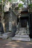 古板的中国大厦被遮蔽的石楼梯在morni的 图库摄影