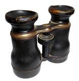 古板的双筒望远镜,隔绝在白色 免版税图库摄影