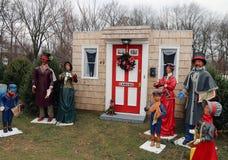 古板的圣诞节欢唱 图库摄影