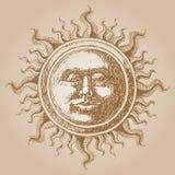 古板的太阳装饰 库存照片