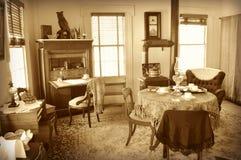 古板的客厅 免版税图库摄影