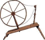 古板的手纺车 向量例证