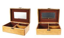 古板的木小箱 免版税库存图片