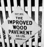 古板的标志谢菲尔德公园 免版税库存图片