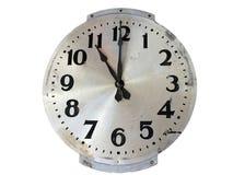 古板的样式不锈钢壁钟 库存照片