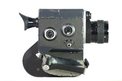 古板的灰溜溜的电影摄影机 免版税库存图片