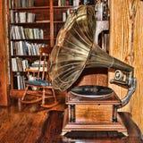 古板的留声机 免版税库存照片