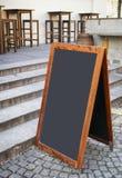 古板的菜单板 免版税库存照片