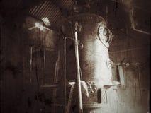 古板的蒸汽锅炉 库存照片