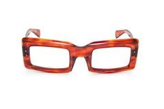 古板的角质架的specs 免版税库存图片