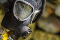 古板的黑防毒面具 库存图片