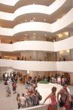 古根海姆美术馆内部  免版税图库摄影
