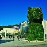 古根海姆美术馆在毕尔巴鄂,西班牙 库存图片