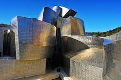 古根海姆美术馆在毕尔巴鄂,西班牙 免版税图库摄影