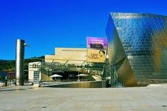 古根海姆美术馆在毕尔巴鄂,西班牙 免版税库存图片