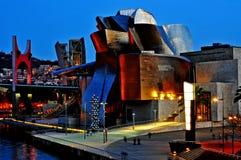 古根海姆美术馆在毕尔巴鄂,西班牙 图库摄影