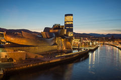 古根海姆美术馆在毕尔巴鄂 库存图片