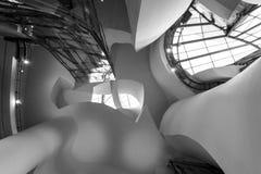 古根海姆美术馆的内部在毕尔巴鄂 库存图片