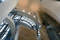 古根海姆美术馆的内部在毕尔巴鄂 图库摄影