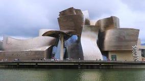 古根海姆美术馆,毕尔巴鄂,西班牙 股票视频