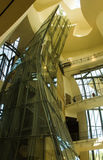 古根海姆美术馆,毕尔巴鄂, Basc国家,西班牙,里面看法 库存图片