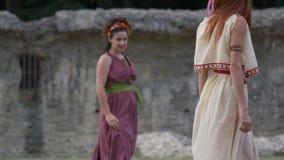 古罗马妇女舞蹈 影视素材