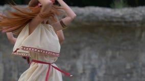 古罗马妇女舞蹈 股票视频