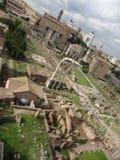 古罗马广场在罗马,意大利 免版税图库摄影