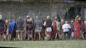 古罗马民用争斗 股票视频