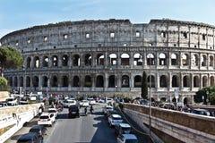古罗马的罗马斗兽场壮观的纪念碑在意大利 免版税库存图片