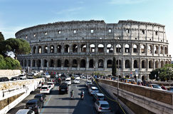 古罗马的罗马斗兽场壮观的纪念碑在意大利 免版税图库摄影