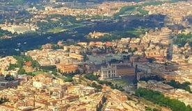 古罗马,意大利的鸟瞰图 免版税库存图片