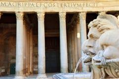 古老万神殿在罗马,意大利 免版税库存照片