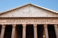 古老万神殿在罗马,意大利 库存照片